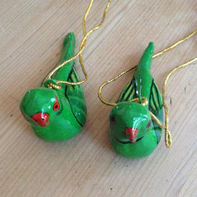 Bird Decoration – Emerald Green