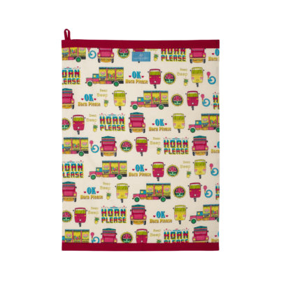 Indian Street Tea Towel
