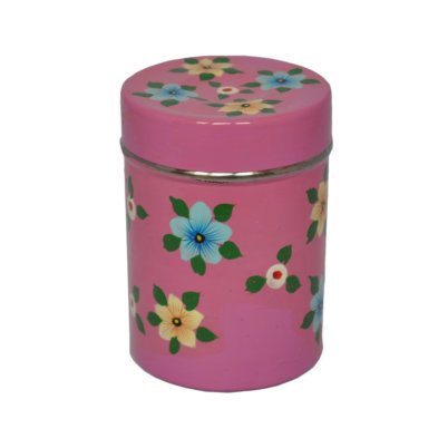 Dusty Pink tea caddy