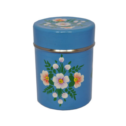 Azure blue tea caddy