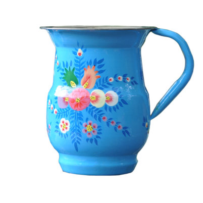 Handpainted Enamelware Jug by Jasmine WHite London