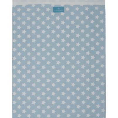 Blue Stars tea towel with piping