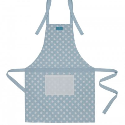 Blue Stars Apron with contrast pocket