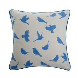Delft birds cushion