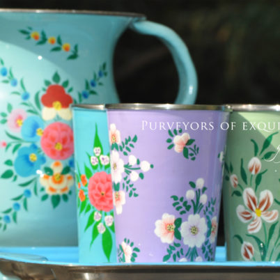 Handpainted Jug and tumblers set