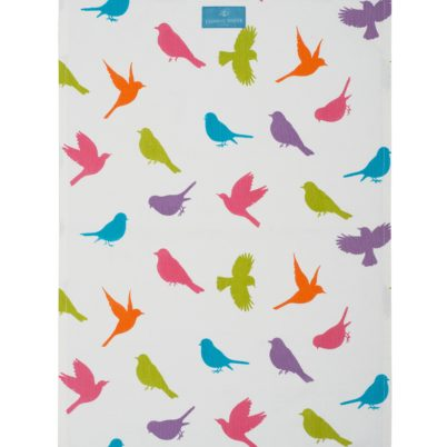 Pastel Birds tea towel