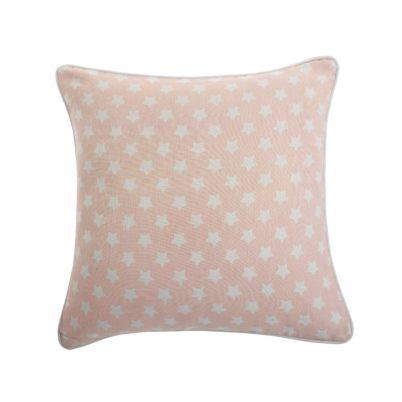 Pink stars bird cushion