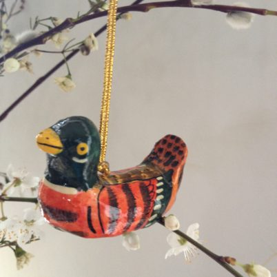 Hand Painted Bird Decoration to hang