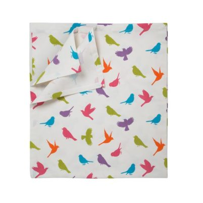 Jasmine White London Birds of Paradise pure cotton Table Cloth
