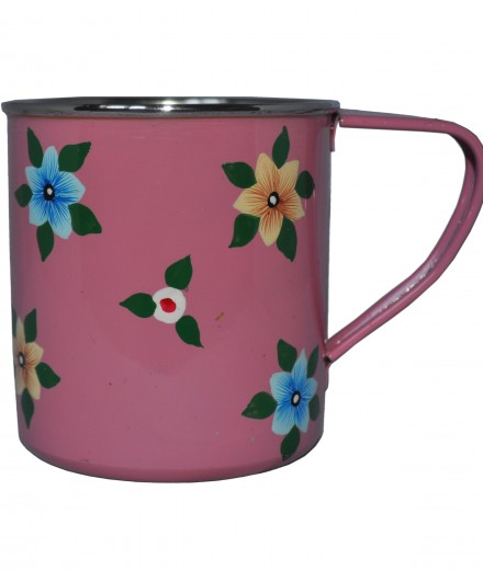 Jasmine White London Dusty Pink Small Flower Mug