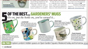 Hand painted enamelware mug recommended by Daily Mail Weekend