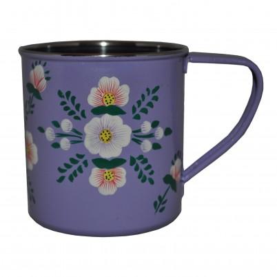 Lilac White Posy Mug