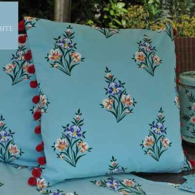 Duck egg Iris Cushions