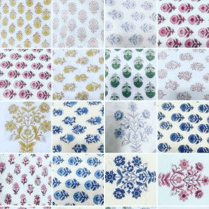 Jasmine White London Handblock printed designs