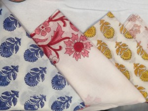 hand block colour napkins