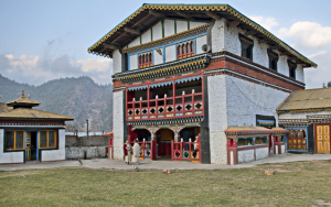 Monastry in Himalayan Mountains