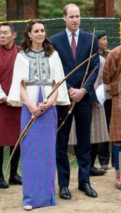 Duke and Duchess of Cambridge Archery in Bhutan