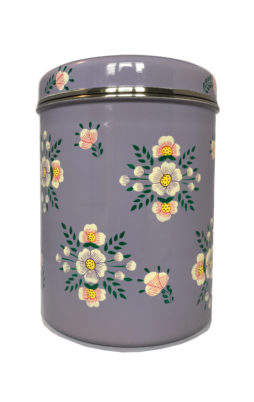 Jasmine White London Storage Jar Lilac White Posy