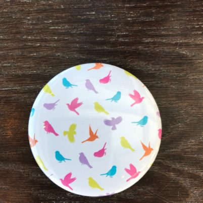 Birds of Paradise Pocket Mirror by Jasmine White London
