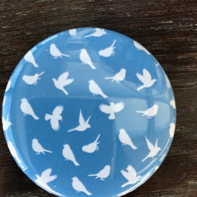 Birds of Paradise Pocket Mirror in Regatta by Jasmine White London