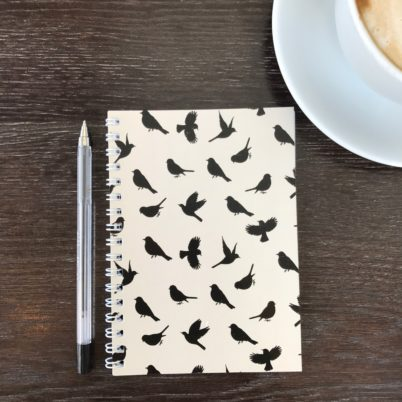 Birds of Paradise notebook in Biscuit by Jasmine White London