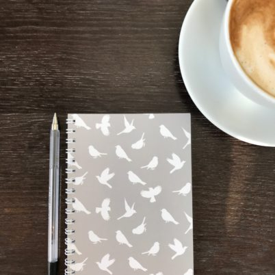Birds of Paradise A6 luxury notebook in Grey by Jasmine White London