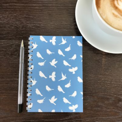 Birds of Paradise notebook in Regatta by Jasmine White London