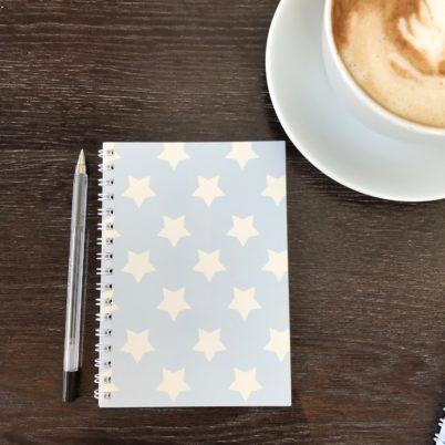 Blue Stars Notebook by Jasmine White London