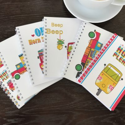 Horn Please! Indian Street A6 Notebook set by Jasmine White London