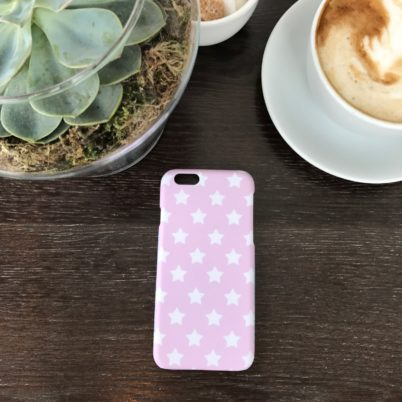 Jasmine White Pink Stars iPhone 6 Case