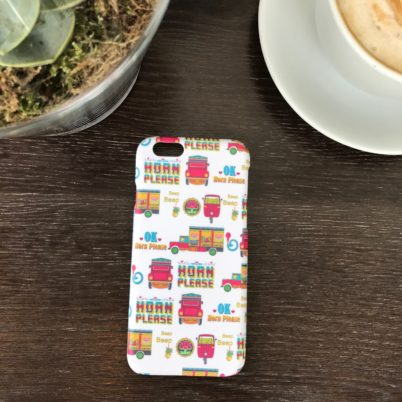 Horn Please! Indian Street iPhone 6 case Jasmine White London