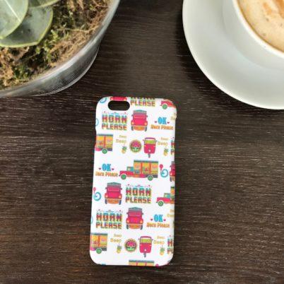 Horn Please! Indian Street iPhone 6 case Jasmine White London