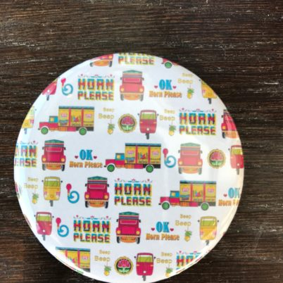 Horn Please! Indian Street pocket mirror by Jasmine White London