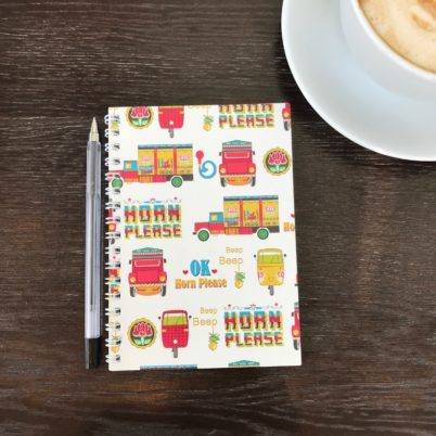 Indian Street notebook in multi colour by Jasmine White London