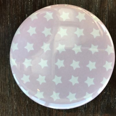 Pink Stars Pocket Mirror by Jasmine White London