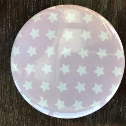Pink Stars Pocket Mirror by Jasmine White London