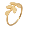 Jasmine White London Gold Vermeil leaf design ring