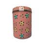 Jasmine White London Storage Jar/ Biscuit Tin in Dusty Pink Small Flower