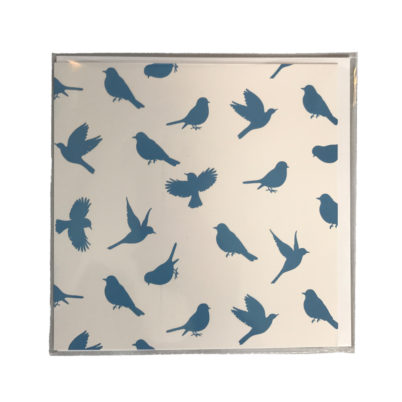 Jasmine White London' Birds of Paradise design Greeting card in Delft