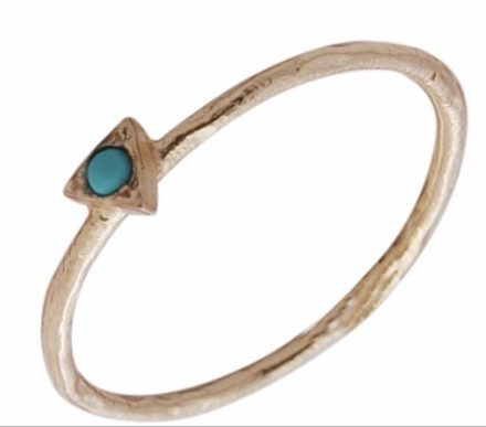 Gold vermeil ring with Turquoise by Jasmine White