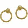 Gold Vermeil Circle Ear studs by Jasmine White