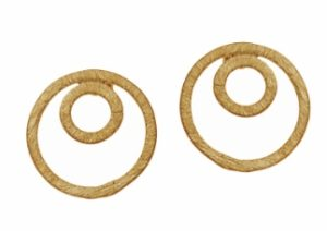 Gold Vermeil Concentric Ear Studs by Jasmine White London
