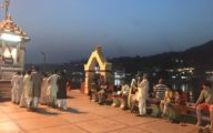 Prayer offering to the river in Rishikesh © Jasmine White London