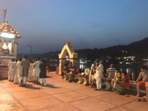 Prayer offering to the river in Rishikesh © Jasmine White London